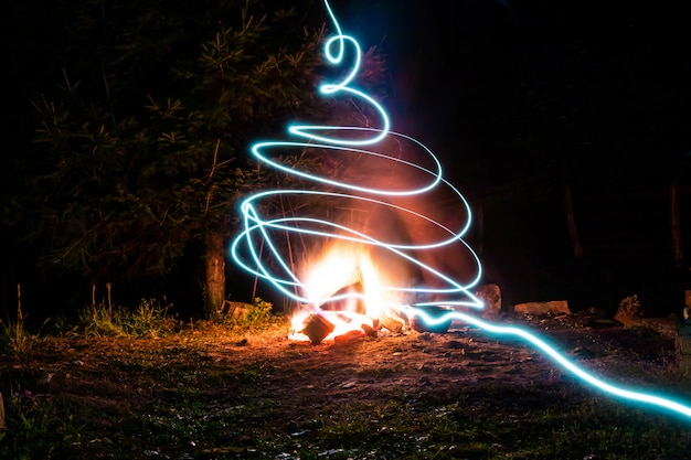 Light trails and fire