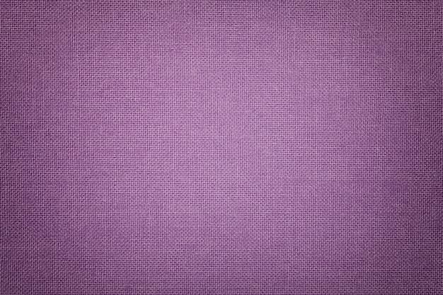 Light violet background from a textile material with wicker pattern, closeup.