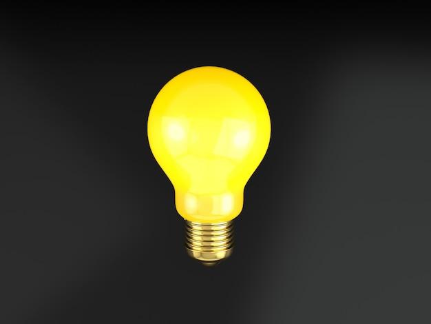 電球黒背景。