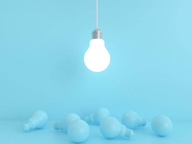 電球パステル背景。