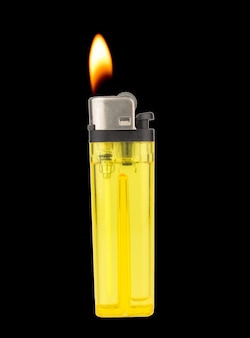 Lighter fire isolated on white background