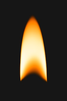 Elemento fiamma più leggero, immagine realistica del fuoco ardente