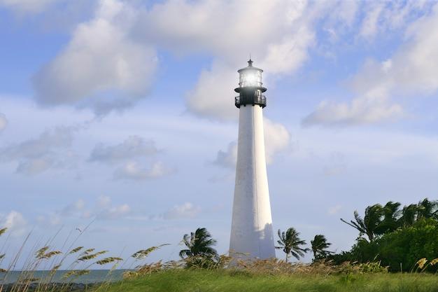 Lighthouse in key biscayne florida sunset