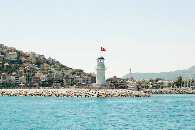Lighthouse near the sea
