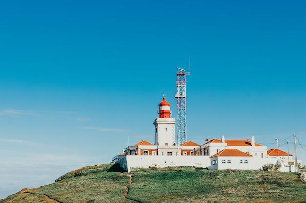 ポルトガル、シントラの大西洋にあるカボダロカの灯台