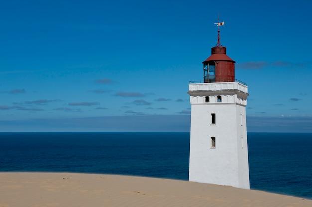 Lighthouse on a sand dune