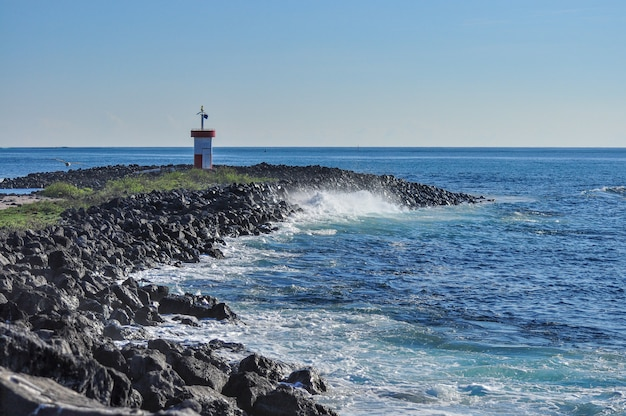 Lighthouse in a seashore