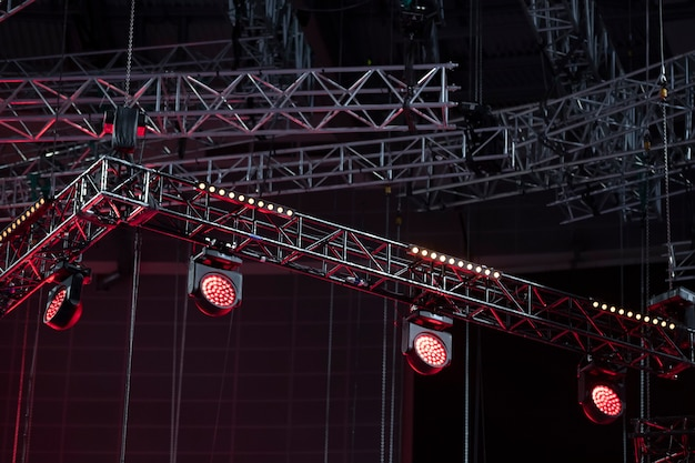 Световое оборудование на концерте