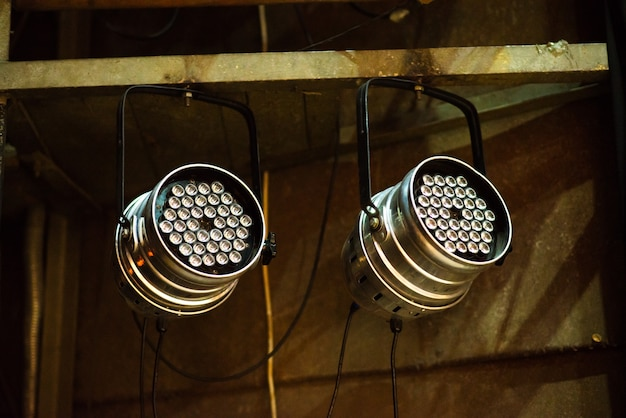 Lighting equipment on the scene
