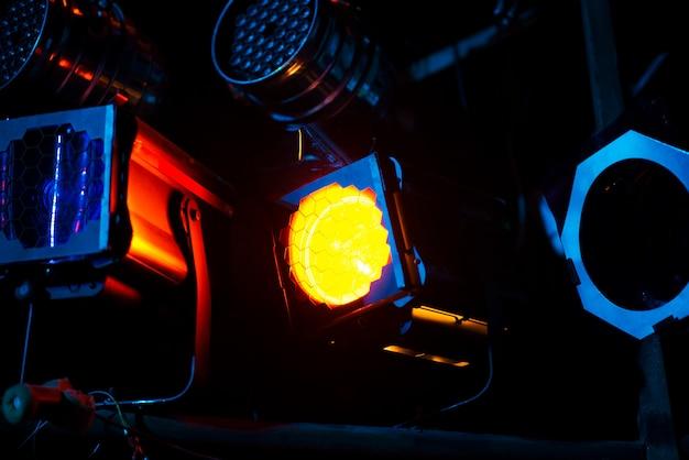 Lighting equipment on the scene.