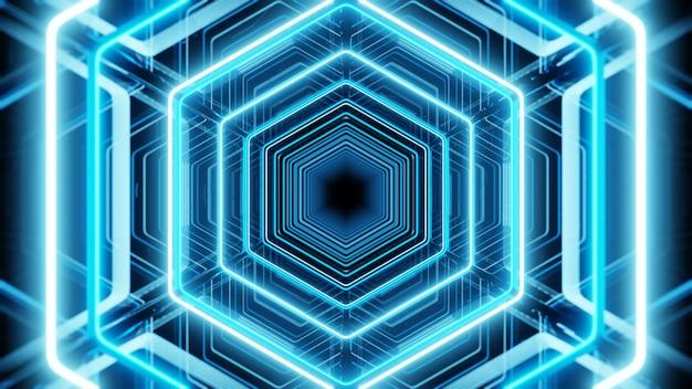 Lighting in spectrum honeycomb background