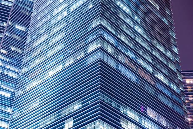 Lighting of windows skyscraper.