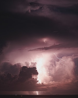 Lightning storm in maldives
