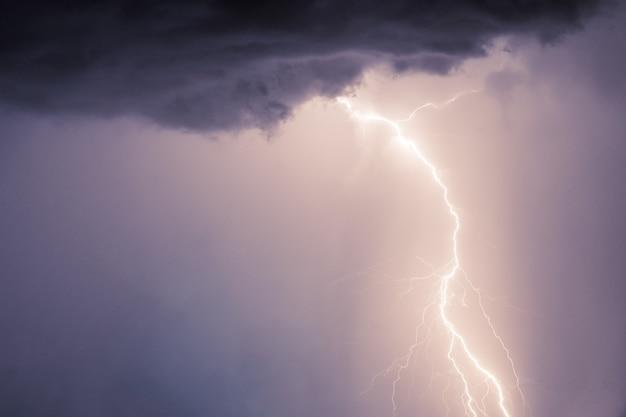 Удары молнии и грома в летнюю бурю