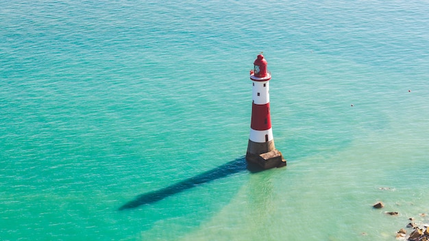 Lightouse and sea in southern england