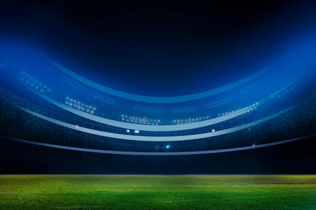 夜のライトとスタジアムの3 dレンダリング