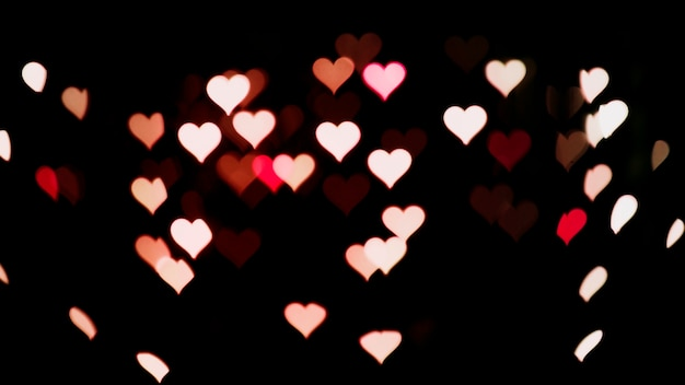 Lights background with hearts