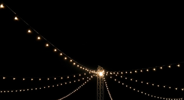 Lights hanging from a pole