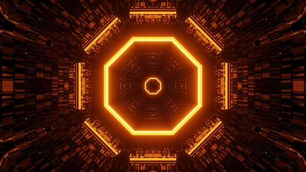 円形に配置された隣り合ったライト