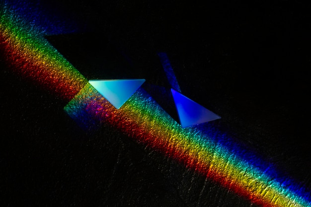 ライトプリズム効果のクローズアップ