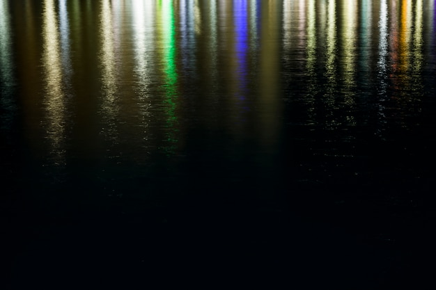 Lights reflected in the water