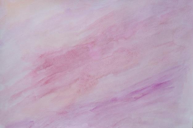 抽象的な塗装水彩画背景-ligntピンクと紫の色