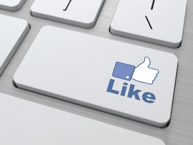 現代のキーボードのボタンのように。ソーシャルメディアの概念。