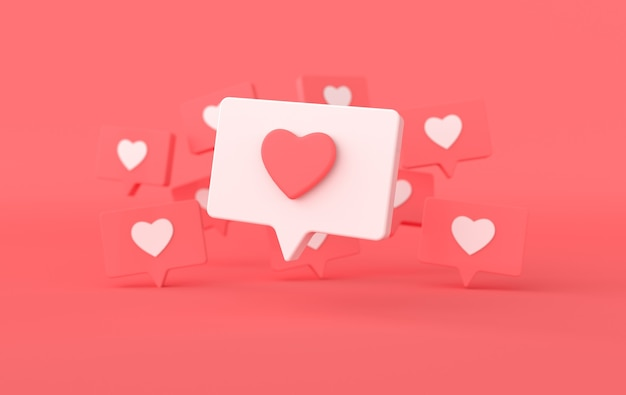 Как значок сердца на булавке, отображающей уведомление в социальных сетях