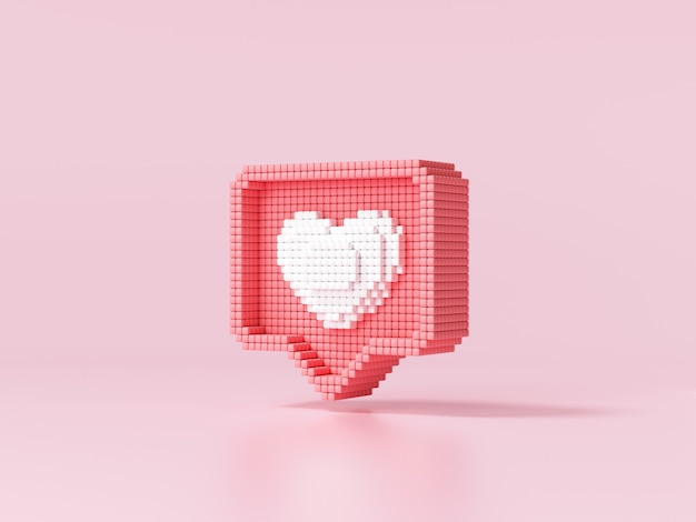 Like heart icon on a pink background