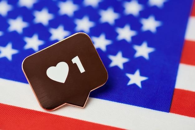 アメリカの国旗のシンボルのように。アメリカの国のように。アメリカ合衆国大統領選挙の新しい投票。アメリカ合衆国への移民の概念。