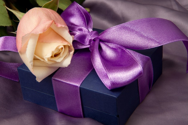 Lilac gift with rose