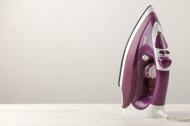 Lilac iron household electrical appliances.