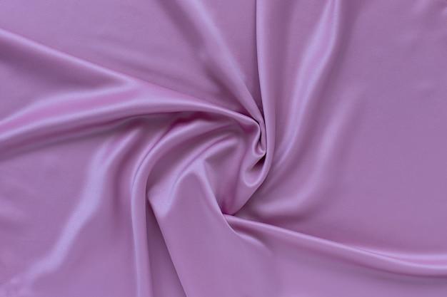 Lilac silk drapery, satin fabric texture