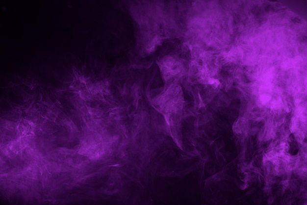 Lilac smoke on a black background