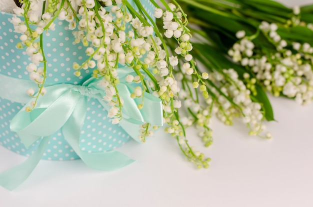 Lilies of the valley. spring flowers background