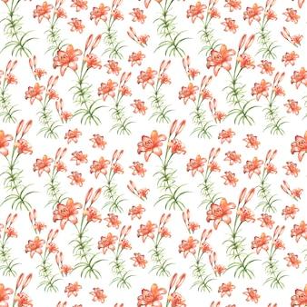 ユリの花。グラフィック手描きイラスト、ベクトル。白い背景の上の別々の要素。印刷、ヴィンテージ、落書き、スケッチ。開花、植生