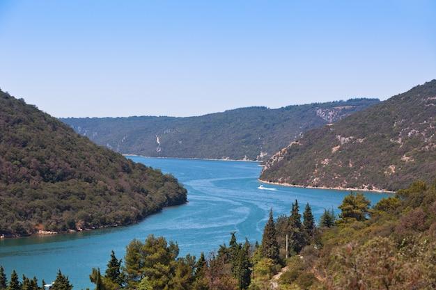 The lim bay in croatia landscape