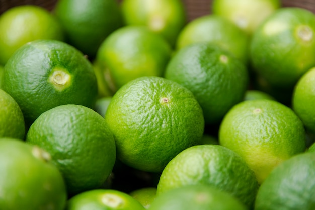 Lime citrus fruits background