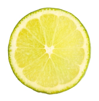 Lime close up on white