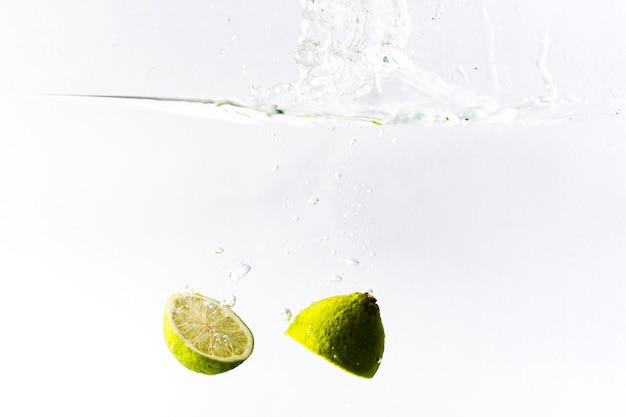 Lime drowning in water