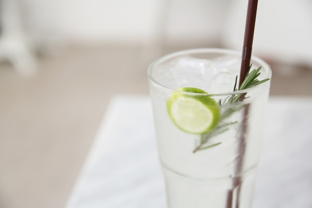 Lime juice in white tone