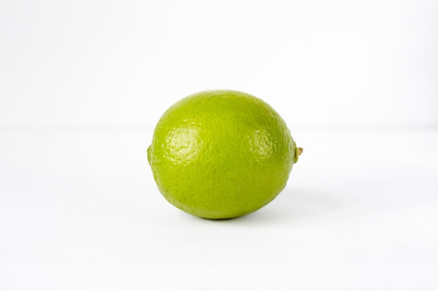 Lime on a white surface