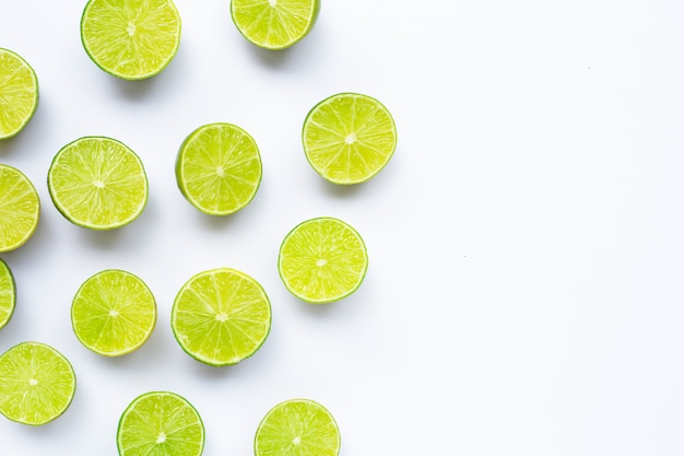 Limes isolated.
