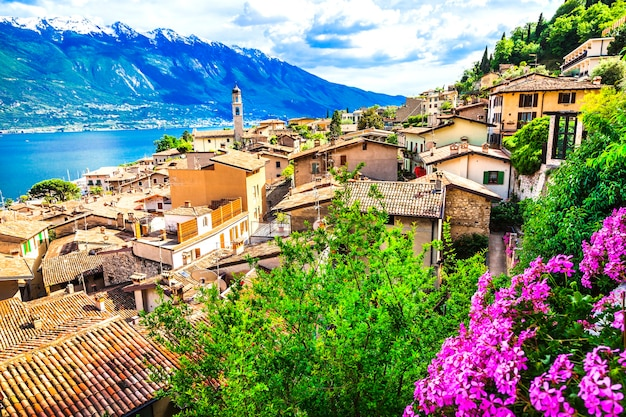 Limone, beautiful town in lago di garda, italy north