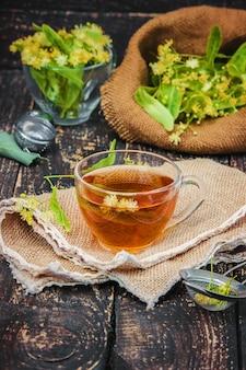 Linden. linden tea. selective focus. nature tea.