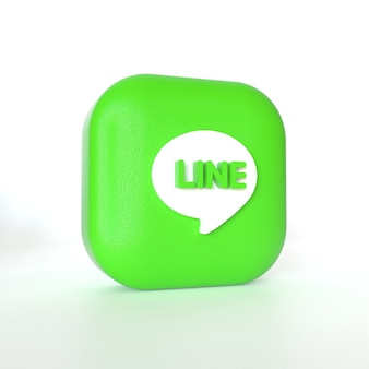 3d 렌더링이 적용된 라인 애플리케이션 로고