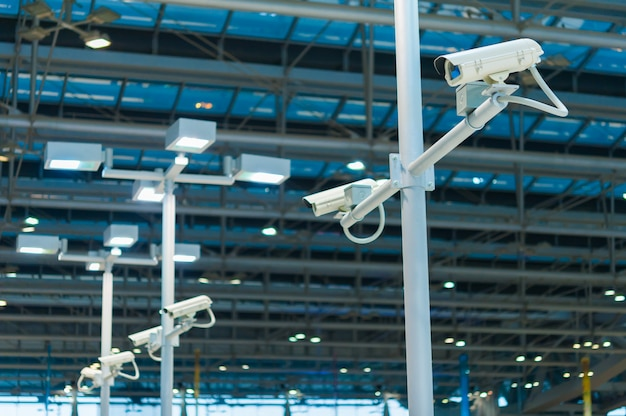 Line of cctv camera or surveillance operating