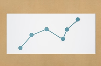 Line graph data analysis icon
