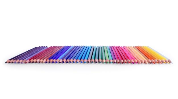 Линия цветных карандашей
