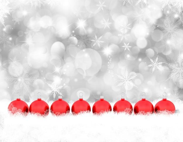 Декоративные фон блесна рождество в снегу